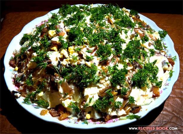 рецепты салатов с рыбой и картофелем