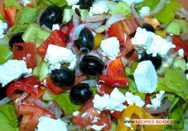 Вкусный овощной салат Греческий с фотографиями