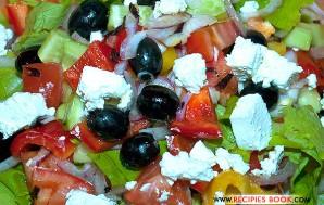 греческий овощной салат