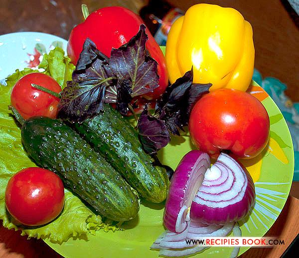 греческий овощной салат ингредиенты