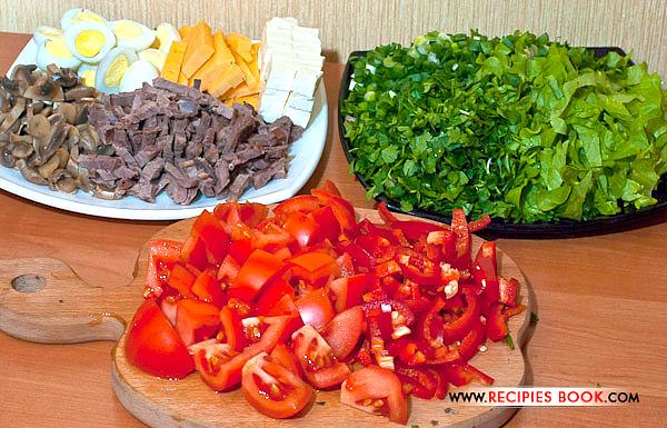 блюда из перепелиных яиц салат