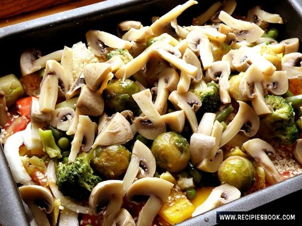 замороженные овощи в духовке